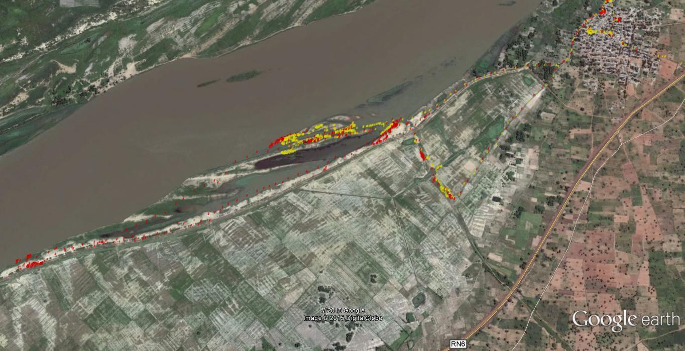 GPS Mapping Results in the Niger River Valley