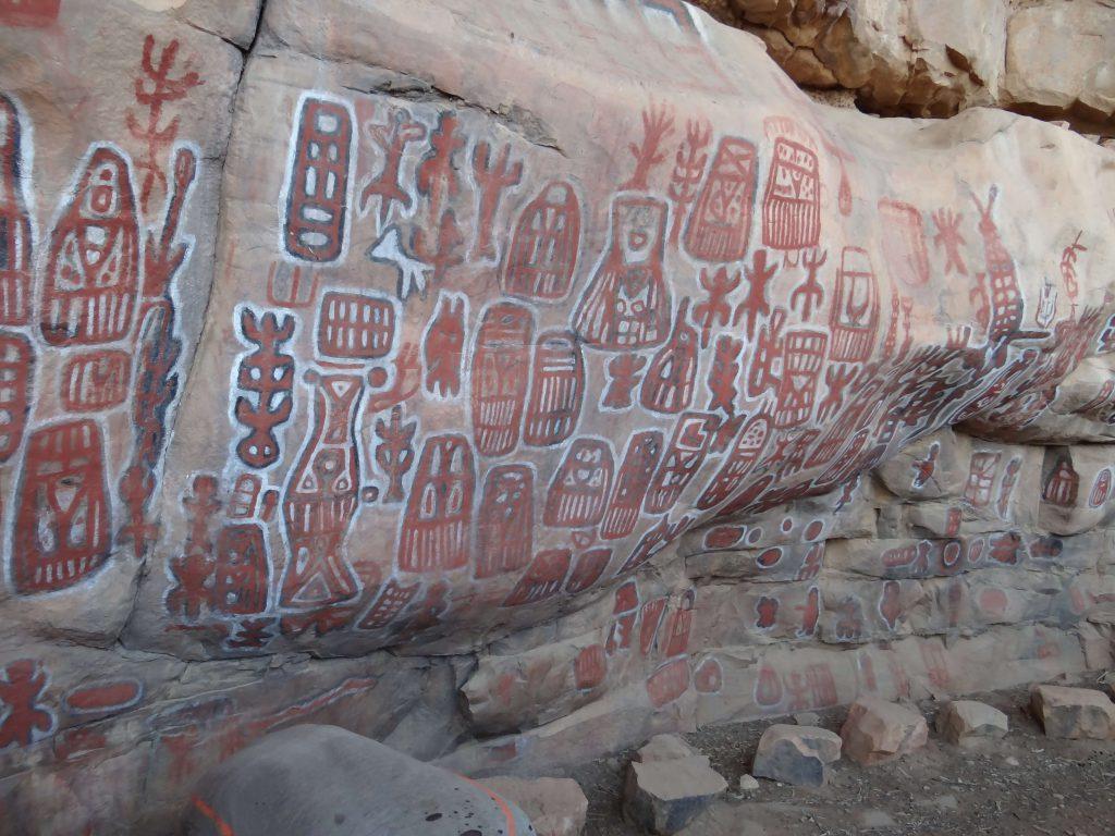 Dogon Mali rock wall paintings