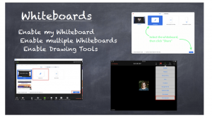 screenshots of zoom whiteboards