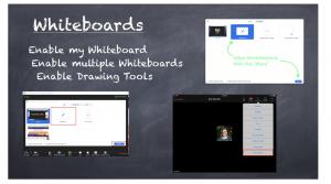screenshots of zoom whiteboards